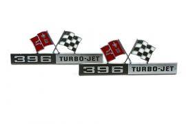 """1965 Corvette """"396 Turbo Jet"""" Side Emblems"""