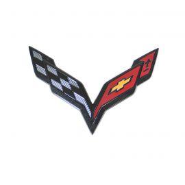 14-18 Front Emblem (Carbon Flash) (Default)