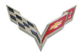 14-18 Rear Cross Flag Emblem (Default)