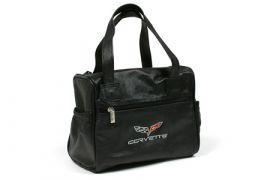 C6 Corvette Embroidered Leather Car Care Kit Bag