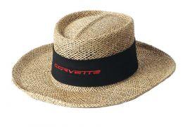 Corvette Straw Hat w/Twill Band (Apparel Color)