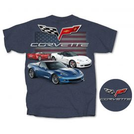 C6 Corvette American Heather Blue T-shirt