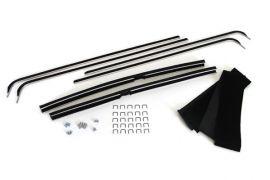 56-62 Deluxe Door Glass Window Channels & Seal Kit