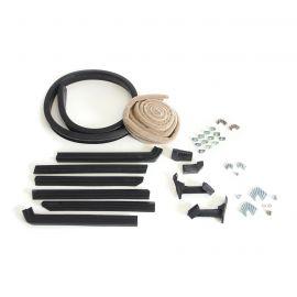 56-57E Convertible Top Deluxe Weatherstrip Kit (Tan Mohair)