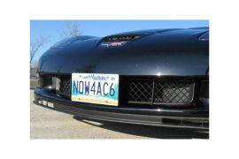 05-13 Front License Aero-Plate Bracket (Black Anodized)