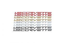 2005-2013 Corvette Fuel Rail Vinyl Letter Kit