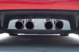 """2005-2013 Corvette Stainless Exhaust Port Filler Panel - Corsa 3.5"""" Quad"""