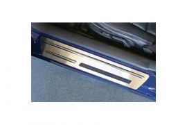 2005-2013 Corvette Stock Door Sill Stainless Overlays w/Ribs