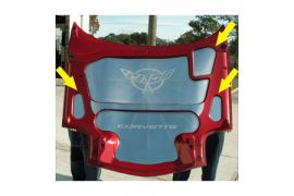 1997-2004 Corvette 3pc Polished Stainless Hood Accent Kit