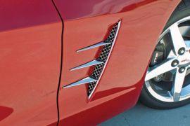 2005-2013 Corvette Laser Mesh Stainless Side Spears w/Fender Grills