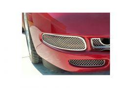 1997-2004 Corvette Laser Mesh Stainless Front Marker Light Grills