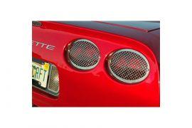 1997-2004 Corvette Laser Mesh Stainless Tail Light Grills (4pc)
