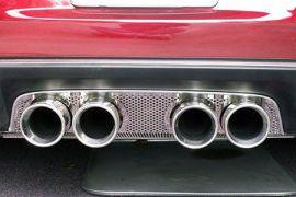2005-2013 Corvette Perforated Stainless Exhaust Port Filler Panel - Borla Round Quad
