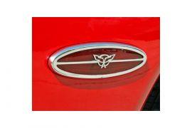 1997-2004 Corvette Stainless Side Marker Light Cover w/C5 Emblem
