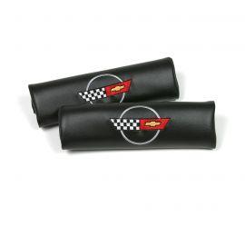 Corvette Seat Belt Pads w/C4 Emblem