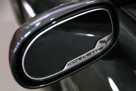 "2005-2013 Corvette Exterior Mirror Stainless Trim w/""C6 Emblem"""