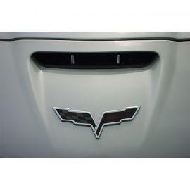 2005-2013 Corvette Front & Rear Emblem Black-Out Kit