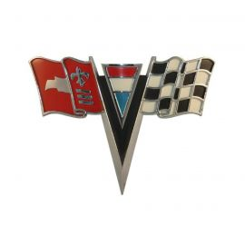 63-64 Corvette Nose Emblem Metal Sign