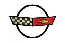 84-90 Corvette Nose Emblem Metal Sign