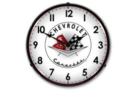1956-1957 Corvette Emblem Lighted Clock