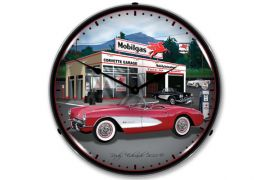 1957 Corvette Lighted Clock