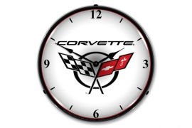 C5 Corvette Emblem Lighted Clock