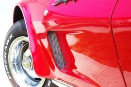 73-79 Side Fender Grille Kit (Bright Finish Small Pattern)