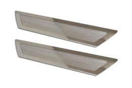 2005-2013 Corvette Perforated Stainless Door Sills