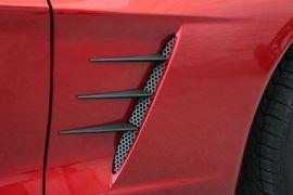 2005-2013 Corvette Blakk Stealth Side Fender Spears w/Perforated Grills