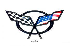 97-04 C5 Emblem American Flag Overlay