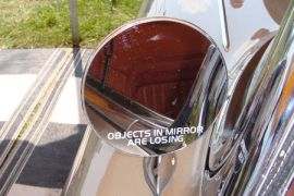 56-82 Objects In Mirror Are Losing Mirror Decal (3in Wide)