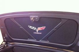 2005-2013 Corvette Conv Trunk Lid Insert w/C6 427 Emblem