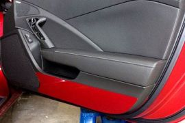 2014-2018 Corvette Painted Door Kick Plates