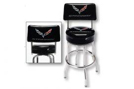 C7 Corvette Stingray Counter Stool w/Backrest