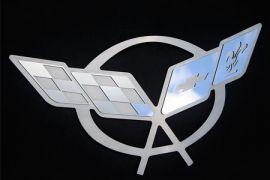 97-04 Stainless Hood Liner Emblem