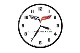 C6 Corvette 14in Wall Clock