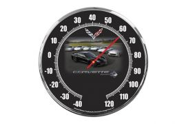 C7 Corvette Heritage 14in Thermometer