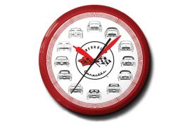 Corvette Profile 20in Neon Clock
