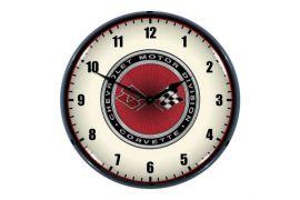 C3 Corvette Chevrolet Motor Division Emblem Lighted Wall Clock