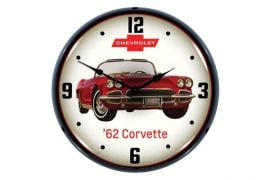 1962 Corvette Lighted Wall Clock