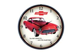1957 Corvette Fuel Injection Lighted Wall Clock