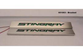 14-19 Brushed Stainless Stingray Door Sills (Illuminated)