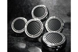 97-13 Auto Slotted Carbon Fiber Engine Cap Cover Set (5pc)