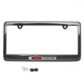 97-04 Carbon Fiber License Plate Frame w/Z06 405HP Emblem