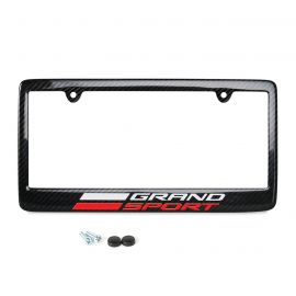 17-19 Carbon Fiber License Plate Frame w/Grand Sport Emblem