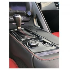 14-19 Manual Carbon Fiber Look Shifter Console Overlay