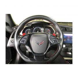 14-19 Carbon Fiber Look Steering Wheel Upper Overlay