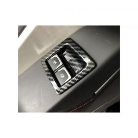 14-19 Carbon Fiber Look Power Window Switch Overlays