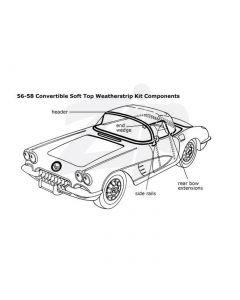 61-62 Convertible Top Deluxe Weatherstrip Kit