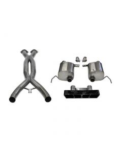 14-19 LT1 & 17-19 GS w/Auto CORSA Double Helixx X-Pipe & Xtreme Valve-Back Exhaust System w/Black PVD Polygon Tip